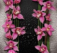 Малиновые орхидеи 210*196см (12 листов)
